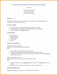 skill set resume example resume for receptionist skills receptionist resume help examples volumetrics bilingual qualification are really great skill set in resume examples