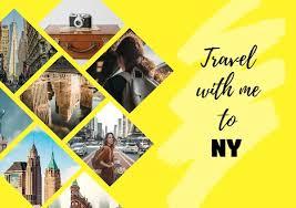 Postcard Collage Template Online Ny Travel Postcard Template Fotor Design Maker