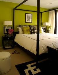 Black, white, Green & Yellow Bedrooms.