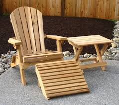 image of wooden outdoor chairs for patio
