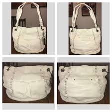 new large b makowsky leather hobo bag