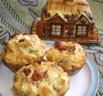 bacon  spinach and feta muffin loaf