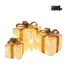 3 Light Up Christmas Boxes Ansio Christmas Decorations Sale Pre Lit Light Up Christmas