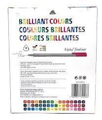 Staedtler Colored Pencils 48 Color Chart Staedtler Triplus Fineliner 48 Color Chart Www