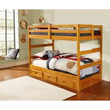Discovery World Furniture Twin Over Twin Honey Bunk Bed