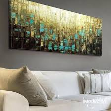 oversized abstract wall art canvas print wall decor large abstract wall art blue brown mid century modern art small to oversized ready to hang by oversized  on blue brown wall art with oversized abstract wall art canvas print wall decor large abstract