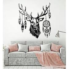 a09 deer antler wall decal mural skull