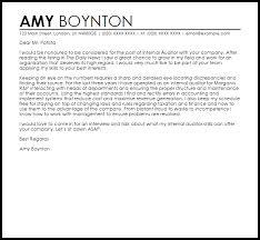 Internal Auditor Cover Letter Sample Cover Letter
