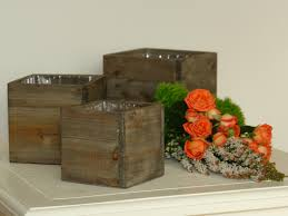 old and vintage wood nice small wooden planter boxes