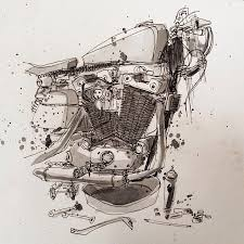 moto art. moto-mucci: art\u0026design: motorcycle illustrations by tomas pajdlhauser moto art v