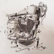 moto art. moto-mucci: art\u0026design: motorcycle illustrations by tomas pajdlhauser moto art v