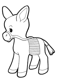 Small Picture print coloring image Donkey and Animal templates