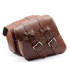 motorcycle saddle bags leather brown side tool bag luggage mochila moto for harley sportster xl 883 1200 d10 fxr saddle bags gearsack motorcycle bags from