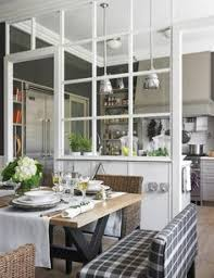 white kitchen windowed partition wall: bob doesnt like open kitchen designs but i do nice compromise we need space for  people to dine but would use it once year