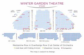 Westside Theatre Seating Chart 14 Skillful Winter Garden Theatre Nyc