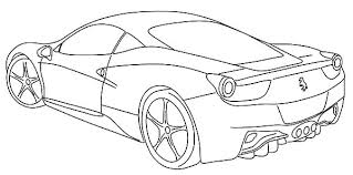 Ferrari Enzo Colouring Pages Coloring Pages Cars Colouring Pages