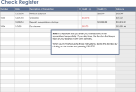 Free Download Check Register 7 Check Register Template Free Download