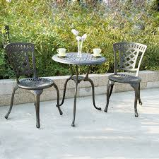 darlee san marino 3 piece bronze metal frame bistro patio dining set