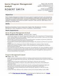 Program Management Analyst Resume Samples Qwikresume