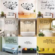 Art for bathroom Signs Soak Relax Enjoy Quote Wall Stickers Art Bathroom Removable Decals Decor Diy Ebay Bathroom Wall Art Ebay