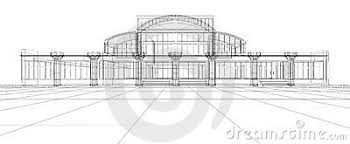 abstract 3d design sketch of office building abstract 3d office building