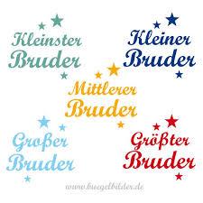 Für Geschwister Bügelmotiv Kleiner Oder Großer Bruder Oskars