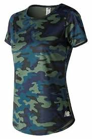 New Balance Women's <b>Printed Accelerate Short Sleeve</b> V2 Green ...