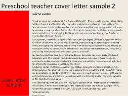 Preschool Teacher Cover Letter Best Solutions Of Cover Letter For