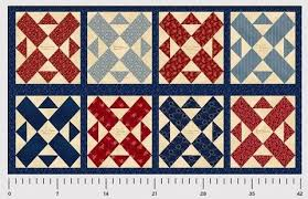 Panels from Beaverhead Treasures & Washington Street Studio Red Blue Large Signature Patriot Reproduction  Cotton Fabric Scale Adamdwight.com