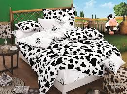 black and white cow cheetah zebra print bedding set cotton bedroom set comforter cover