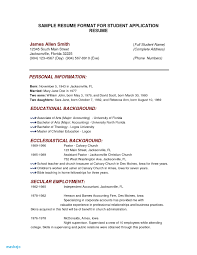College Application Resume Examples For High School Seniors Sample