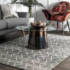 nuloom geometric moroccan trellis fancy grey area rug 8 x grey