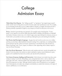 admissions essay example college application essay org view larger