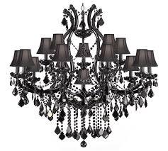 black chandelier with crystals designs