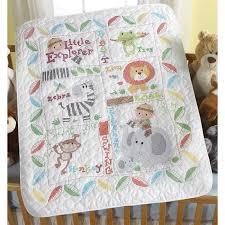 Little Explorer Baby Quilt Kit - Bucilla St&ed Cross Stitch at ... & Baby Quilt - Stamped Cross Stitch Kit - Little Explorer Adamdwight.com