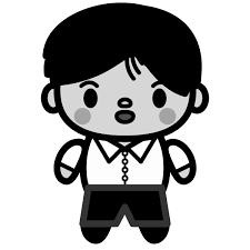 かわいい中学生の男の子の無料イラスト商用フリー オイデ43