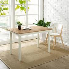 farmhouse white wood dining table