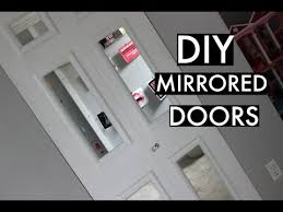 Diy Mirrored Closet Doors Youtube Inspiring DIY Mirrored Closet