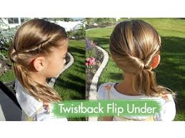 Hairstyles For Kids Girls 26 Inspiration Twistback Flip Under Cute Girls Hairstyles YouTube