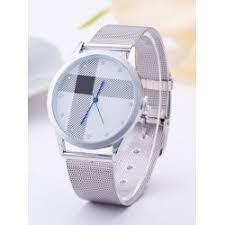 silver and gold mens watch fashion shop online twinkledeals com geometric stripe rhinestone circle watch silver