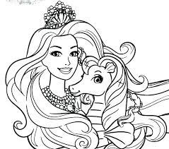 Online Kids Coloring Princess Coloring Page Barbie Coloring Pages