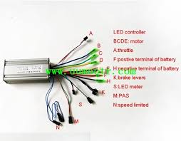 electric bike controller wires illustration with led display or sakura electric bike wiring diagram led display controller