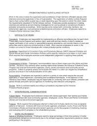 Probation Officer Resumes Correctional Officer Resume Resume Badak