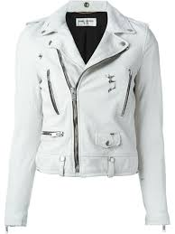 saint lau cropped biker jacket women clothing yves saint lau sunglasses yves saint lau