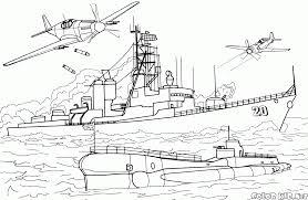 Bateau De Guerre 6 Transport Coloriages Imprimer