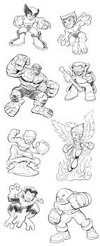Super Hero Squad Wolverine Coloring Pages