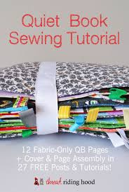 27 free quiet book sewing tutorials to sew your own 12 page book thread riding hood