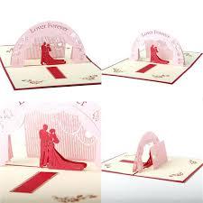 Valentines Day Wedding Invitations New Pop Up Greeting Card Cherry