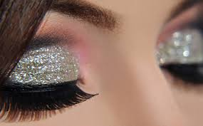 glittery and shimmery eyes makeup ideas for night out parties