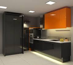Simply Cool Kitchen Design Idea with Sleek Black Kitchen Cabinets ...